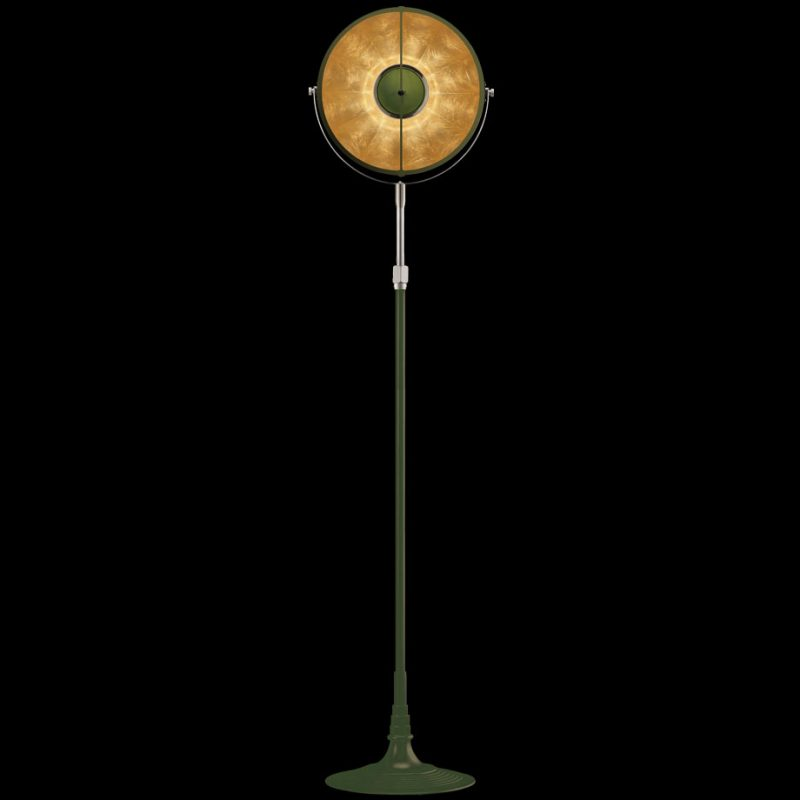 Fortuny lamp Studio 1907 Atelier 32 pastel green & gold leaf